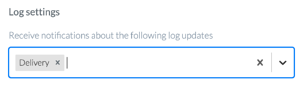 Log notifications