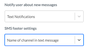 user notification settings
