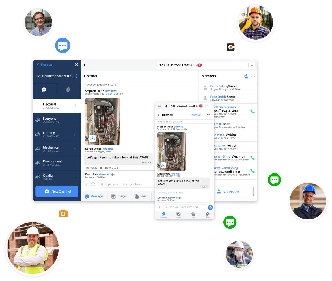Construction Communication Software Workflow – FieldChat