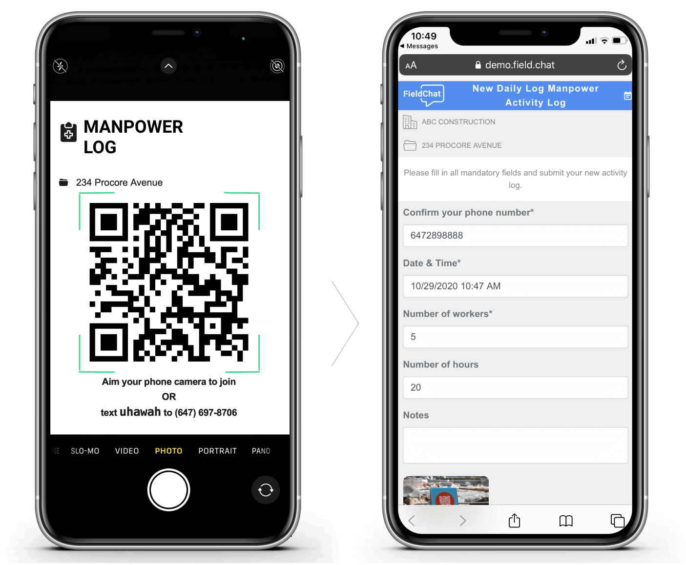 Manpower Tracking for Teams Using Procore – QR Code Data Collection Product Image